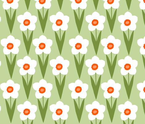 Field of Daffodils fabric by slkanitz on Spoonflower - custom fabric