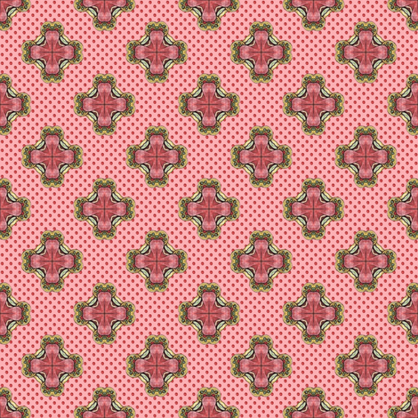 Ozrin's Crosses - Pink fabric by siya on Spoonflower - custom fabric