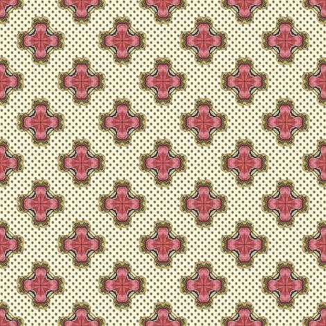 Ozrin's Crosses - White fabric by siya on Spoonflower - custom fabric