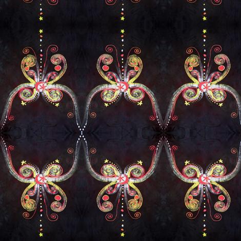 Black Batik Butterfly fabric by batikwalla on Spoonflower - custom fabric
