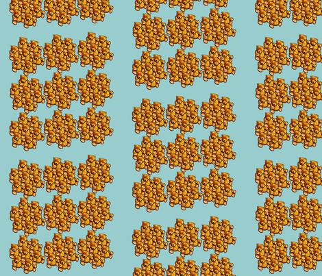 Vintage-teddy-bear-puzzle-fabric fabric by vertuta on Spoonflower - custom fabric