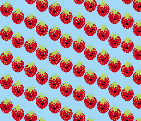 Strawberry fabric by mayabella on Spoonflower - custom fabric