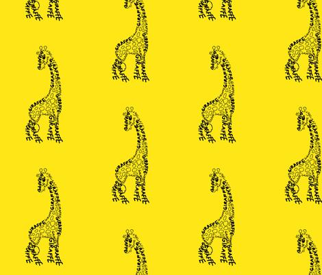 Giraffe fabric by blue_jacaranda on Spoonflower - custom fabric