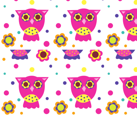 Owls fabric by baile2jj on Spoonflower - custom fabric