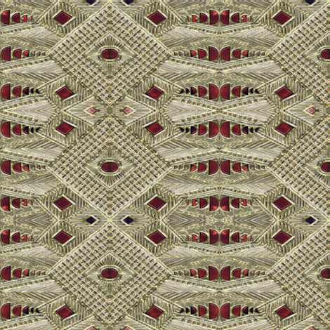 Rubies and Fake Gilt fabric by eclectic_house on Spoonflower - custom fabric