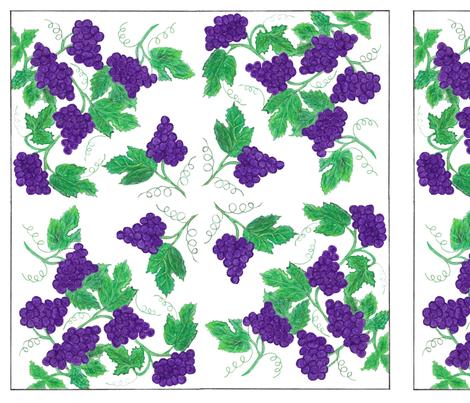 The Vineyard fabric by createdgift on Spoonflower - custom fabric