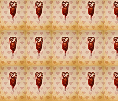 heart of hearts fabric by mome_rath_garden on Spoonflower - custom fabric
