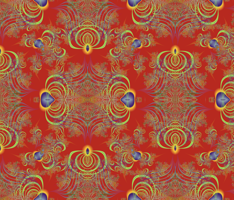 Bird of Fractal Paradise fabric by eclectic_house on Spoonflower - custom fabric