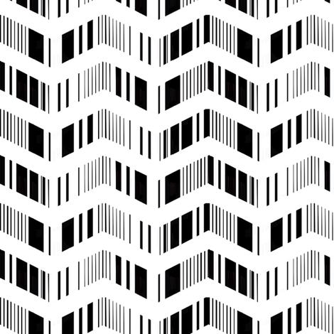 zigzag zebra fabric by cristinapires on Spoonflower - custom fabric