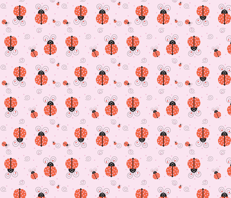 LadyBug fabric by donnamarie on Spoonflower - custom fabric