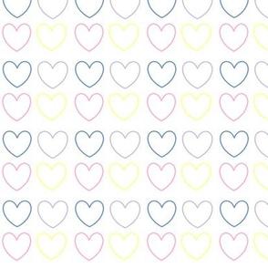 pastel hearts multi