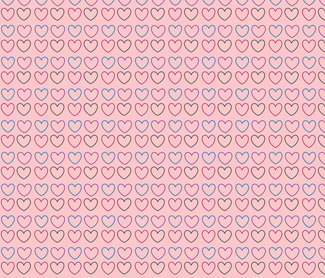 pastel hearts pink fabric by handmadebyclairebear on Spoonflower - custom fabric