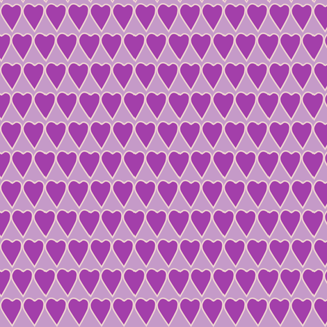 Small_violet_heart_on_lilac fabric by mina on Spoonflower - custom fabric