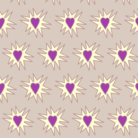 Love_Explosion_TAN fabric by mina on Spoonflower - custom fabric