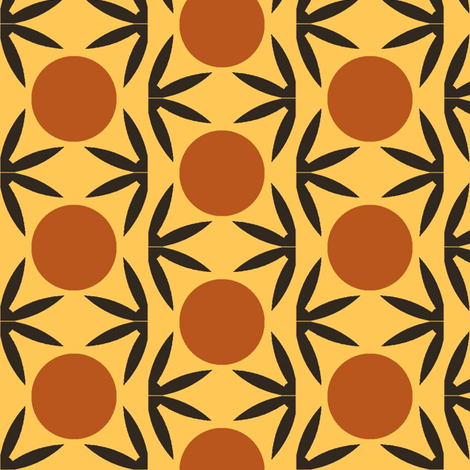 Thorn and Sunrise, Yellow fabric by david_kent_collections on Spoonflower - custom fabric