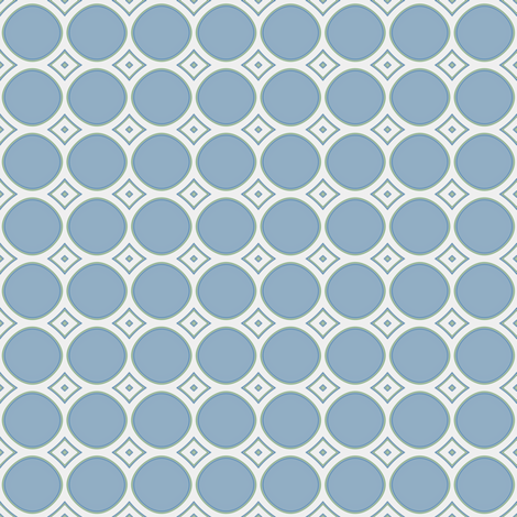 Ice Cream Parlor Circles in Blue © 2009 Gingezel™ Inc. fabric by gingezel on Spoonflower - custom fabric