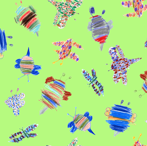 bubbie-bugs fabric by weavingmajor on Spoonflower - custom fabric