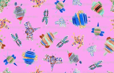 bubbie-bugs on bubblegum pink