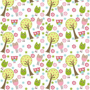 Whimsy Owls Trees