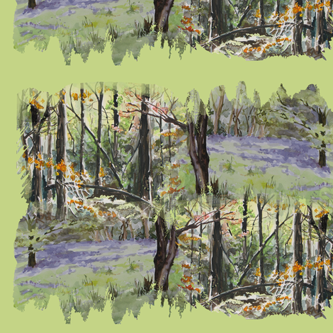watercolor_spring_autumn_3551 fabric by eclectic_house on Spoonflower - custom fabric