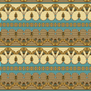 Egyptian ornate lily border