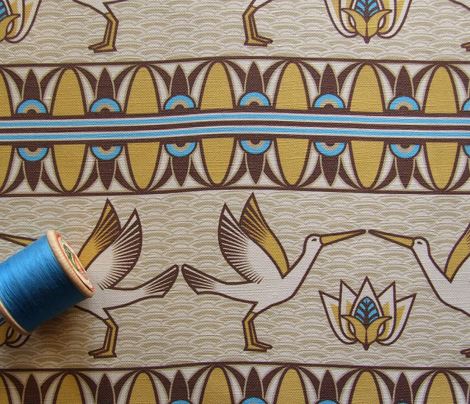 Egyptian ornate bird border
