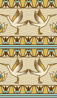 Egyptian ornate bird border