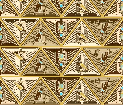 Egyptian pyramid maze fabric by cjldesigns on Spoonflower - custom fabric