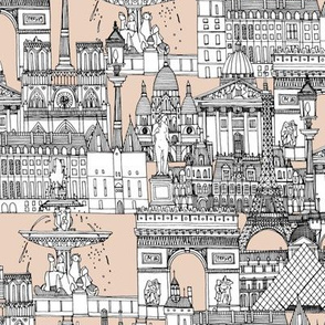 Paris toile sugar pink