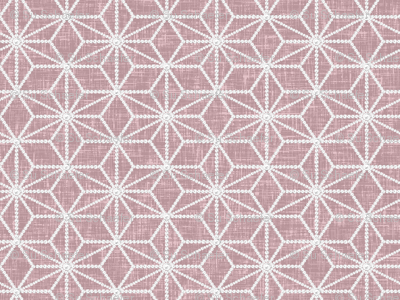 Hemp leaf pattern pearls on denim pink by Su_G