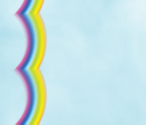 Glass Rainbow Border fabric by animotaxis on Spoonflower - custom fabric