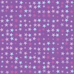 Stars On Purple