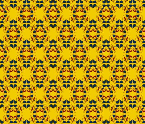 Like Floor Tiles Seen in old Paris Bistros fabric by susaninparis on Spoonflower - custom fabric