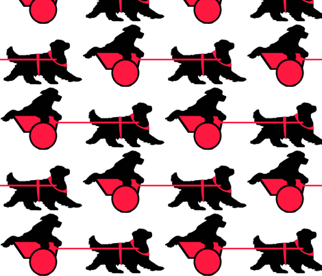 Newfoundland_Draft_Dog_ fabric by dogdaze_ on Spoonflower - custom fabric