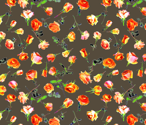 roses coffee col. 5 fabric by patternmaker on Spoonflower - custom fabric