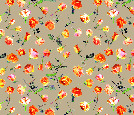 roses beige col. 6 fabric by patternmaker on Spoonflower - custom fabric