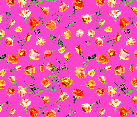 roses pink col. 10 fabric by patternmaker on Spoonflower - custom fabric
