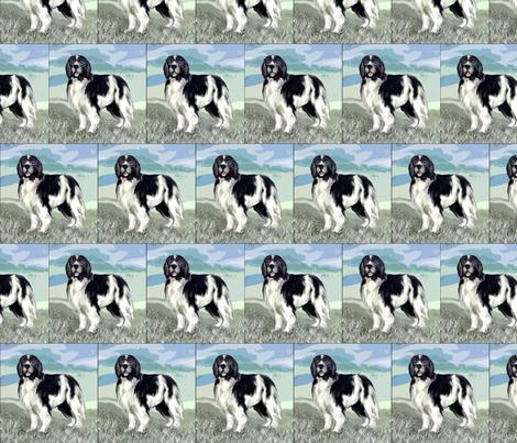 Landseer Newfoundland Dog Standing fabric by dogdaze_ on Spoonflower - custom fabric