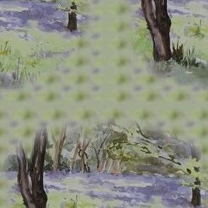 Lavender and green Spring Bluebells