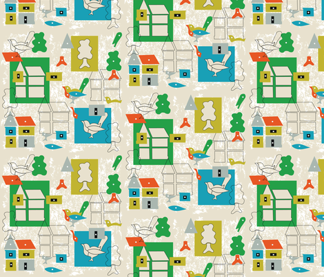 puzzletown fabric by designcamp on Spoonflower - custom fabric