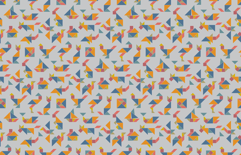Tangram Fever fabric by annosch on Spoonflower - custom fabric