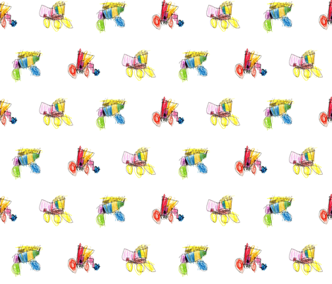bubbie's trucks, revisited fabric by weavingmajor on Spoonflower - custom fabric