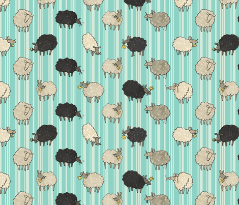 Sheep! fabric by sheena_hisiro on Spoonflower - custom fabric
