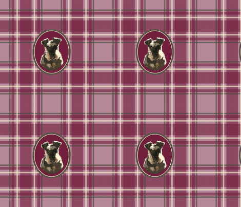 schnauzer_plaid fabric by pavlovais on Spoonflower - custom fabric