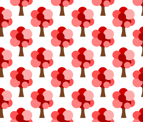 Bubble Tree fabric by mayabella on Spoonflower - custom fabric