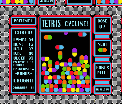 Tetris-cycline : The Game fabric by ceanirminger on Spoonflower - custom fabric