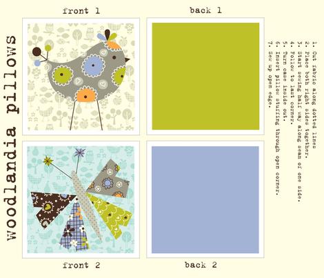 woodlandia pillows fabric by amel24 on Spoonflower - custom fabric