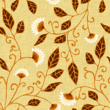 Sunny Linen fabric by kezia on Spoonflower - custom fabric