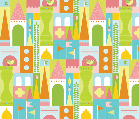Castle Blocks Puzzle fabric by kayajoy on Spoonflower - custom fabric
