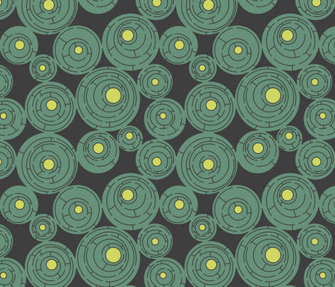 Maze in Gray and Turquoise fabric by meduzy on Spoonflower - custom fabric